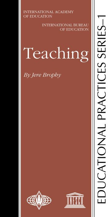 Teaching; Educational practices series; Vol.:1; 1999