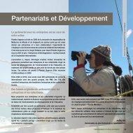 Partenariats et Développement - Planète Urgence