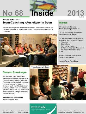 Mai 2013 - Torre Schweiz AG