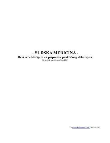 Sudska medicina – repetitorijum za praktični ispit.pdf - Beli Mantil