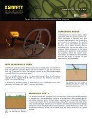 Searchcoil Tech Sheet pdf - Garrett