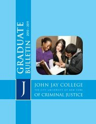 Graduate Bulletin 2010-2011 - John Jay College Of Criminal Justice ...