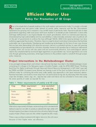Efficient Water Use Policy For Promotion of ID Crops - NRSP