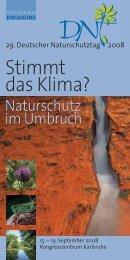 Programm des 29. DNT 2008 - Deutscher Naturschutztag