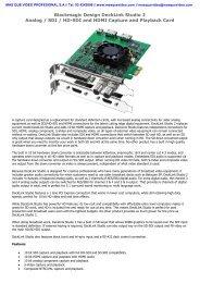 Blackmagic Design DeckLink Studio 2 Analog / SDI / HD ... - que Video