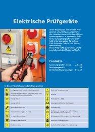 Elektrische Pruefgeraete - Testeurs de tension - Ulrich Matter AG