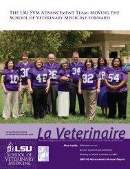 The LSU SVM Advancement Team - School of Veterinary Medicine ...