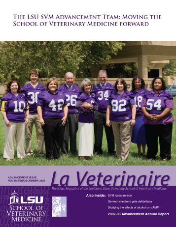 The LSU SVM Advancement Team - School of Veterinary Medicine ...