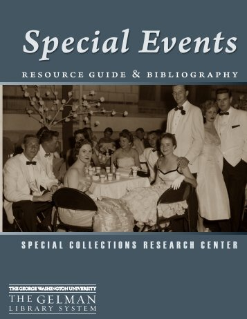 Special Events - GW Libraries - The George Washington University