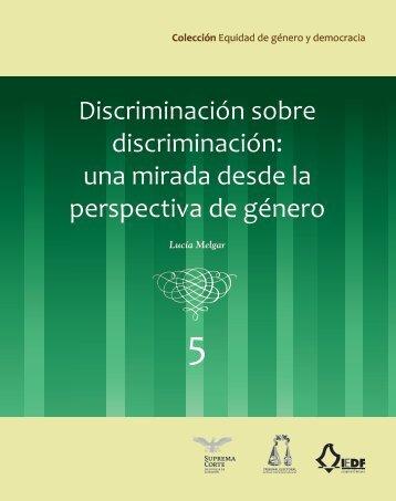 Discriminación - Programa de Equidad de Género en la Suprema ...