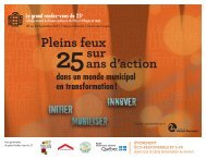 Pleins feux sur 25ans d'action - Réseau québécois des villes et ...