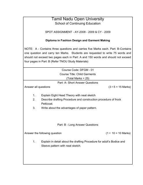 Diploma In Fashion Designing And Garment Making Tamil Nadu