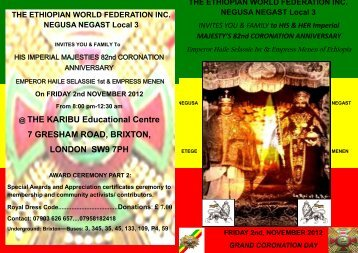@ THE KARIBU Educational Centre 7 GRESHAM ROAD ... - Rasta Ites