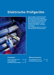 Beha Amprobe Elektrische Prüfgeräte-Katalog - Ulrich Matter AG