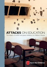Attacks On Education - Full Report in PDF - Save the Children