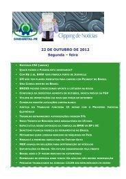 22 DE OUTUBRO DE 2012 Segunda – feira - Sindimetal/PR