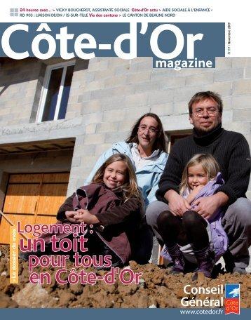 Novembre 2009 en PDF - Conseil général de Côte-d'Or