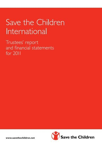 Trustees' report - Save the Children