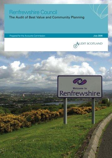 Renfrewshire Council: the Audit of Best Value and ... - Audit Scotland