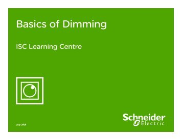 How can I install the right dimmer to increase ... - Schneider Electric