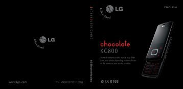 LG Chocolate KG800 Manual - BASE
