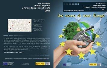 Política Regional y Fondos Europeos en España Política Regional y ...