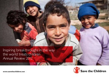 Inspiring breakthroughs in the way the world ... - Save the Children