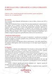 ix biennale dell'urbanistica e degli urbanisti europei - Urban Center