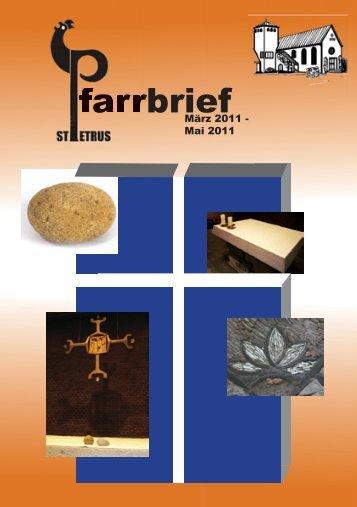 Pfarrbrief März-Mai 2011 - St. Petrus