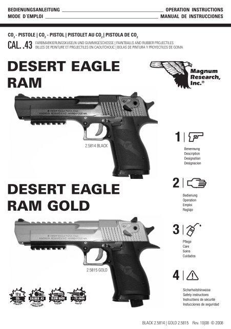 Desert Eagle Ram Gold 2 3 4 1