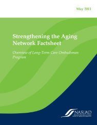 Strengthening the Aging Network Factsheet - National Association of ...