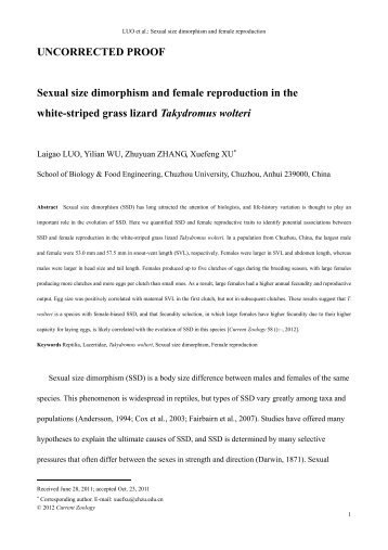 sexual dimorphism behavior Sexual dimorphism and differential niche utilization phism and sexual divergence in foraging behavior in two melanerpine species sexual dimorphism.