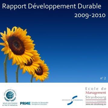 Télécharger le Rapport Développement Durable 2010