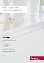 """Neff - Ideas that wrIte kItcheN hIstory."" -  Sampford IXL"