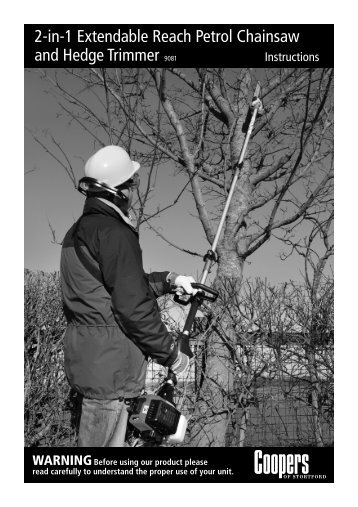 Download PDF instructions for 2-in-1 Extendable Chainsaw ...