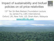 Impact of sustainability and biofuel policies on oil price ... - MOSTA