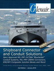 Shipboard Connector and Conduit Solutions - Glenair, Inc.