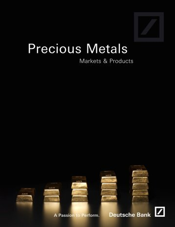 Precious Metals - db ETC – Exchange Traded Commodities
