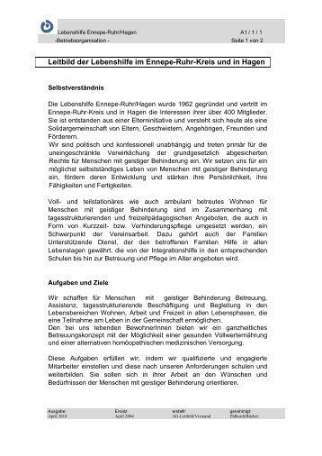 Leitbild der Lebenshilfe im Ennepe-Ruhr-Kreis und in Hagen