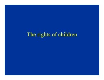 The rights of children - iDOC Africa