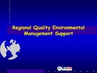 Regional Quality Environmental Management Support