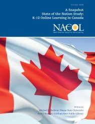 A Snapshot State of the Nation Study: K-12 Online ... - iNACOL
