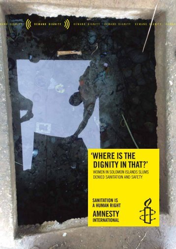 Where is the dignity in that? - Amnesty International