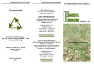 Institut für Umwelt und Boden