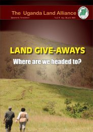 LAND GIVE-AWAYS - Uganda Land Alliance
