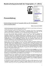 Bundesarbeitsgemeinschaft der Fanprojekte e.V. (BAG)