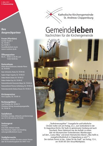 Gemeindeleben - St-andreas-clp.de