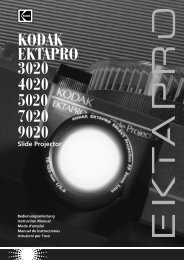 Instruction Manual for the KODAK EKTAPRO 3020 - KODAK: Slide ...