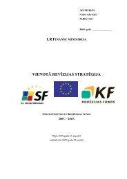 Vienotā revīzijas stratēģija 2007.-2015.gadam - ES fondi