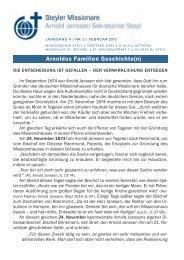 Rundbrief Nr. 02/2010 - Steyler Freundes- und Partnerkreise